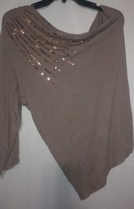 VS Mocha Latte Sequin One Shoulder Top XL Plus